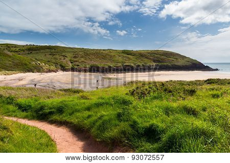 Manorbier Beach Wales