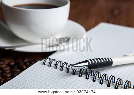 Business Still-life With Cup Of Coffee