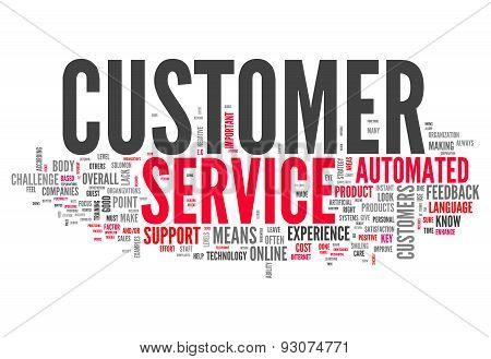 Word Cloud Customer Service