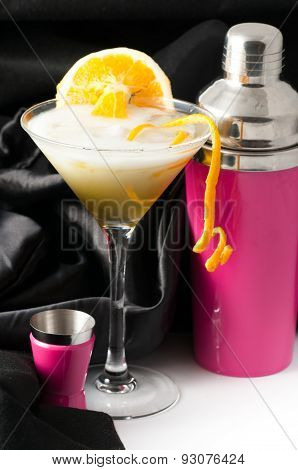 Orange With Pink Cocktail Shaker