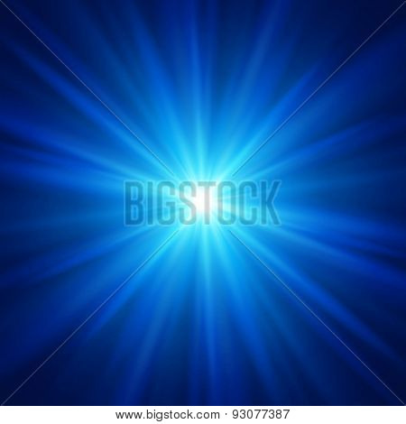 Blue color design with a burst. Vector illustration