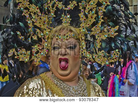 Drag Queen In Pride Parade Sao Paulo