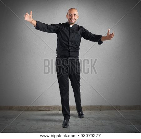 Cheerful priest