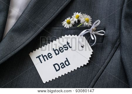 Surprise For The Dad In His Jacket Pocket: Congratulations And Daisies