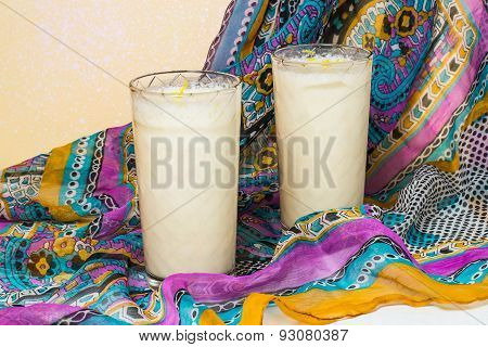 Indian National Drink Lassi With Yogurt And Spices