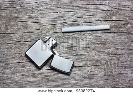 Cigarette With Lighter
