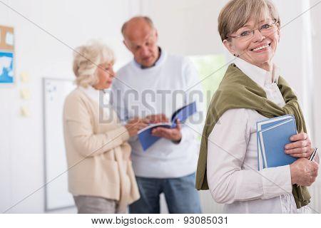 Elder People Studying