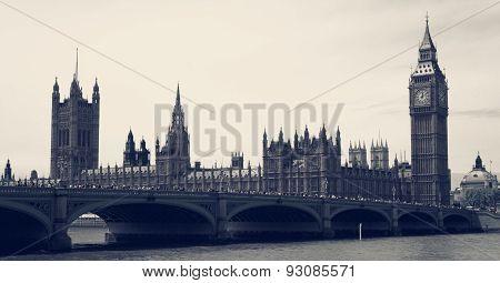 Big Ben And Parliament Vintage