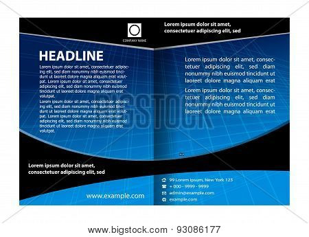 Catalog design template design illustration vector