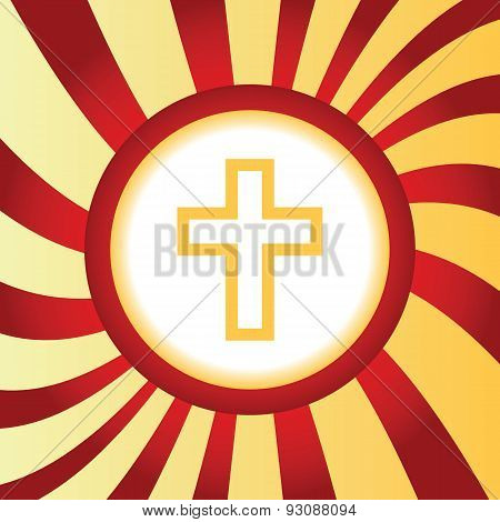 Christian cross abstract icon
