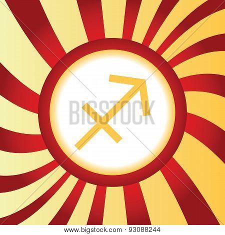 Sagittarius abstract icon
