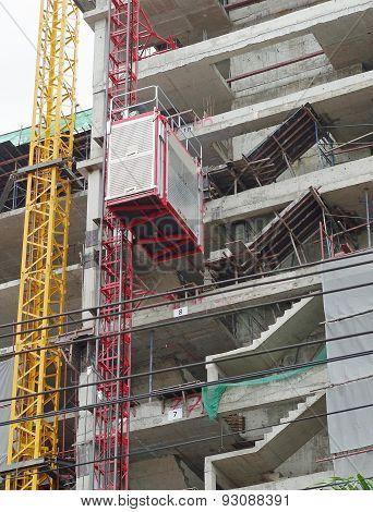 Lift- construction site.