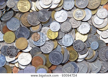 Collection of the old circulated coins