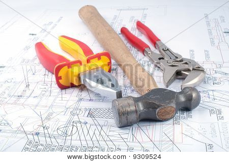 Assorted Tools On Diagram