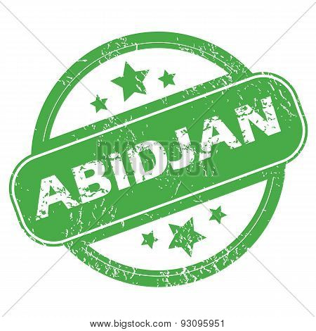 Abidjan green stamp