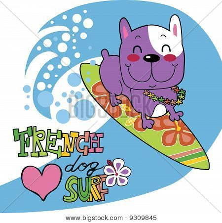 French Bulldog Surf