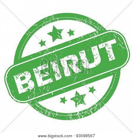 Beirut green stamp