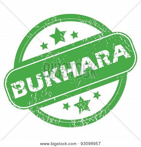 Bukhara green stamp