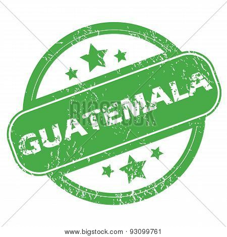 Guatemala green stamp