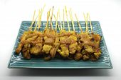 image of thai cuisine  - Grilled pork satay - JPG