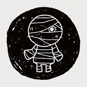 stock photo of mummy  - Mummy Doodle - JPG