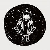 image of ninja  - Ninja Doodle - JPG