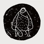 stock photo of ogre  - Giant Ogre Doodle - JPG