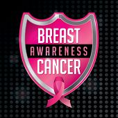 pic of mammogram  - An emblem and ribbon for Breast Cancer Awareness - JPG