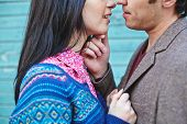 image of amor  - Amorous couple standing face to face - JPG