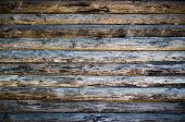 image of log fence  - Wooden logs wall of rural house background - JPG