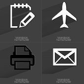 picture of tasks  - Task completed sign Airplane Printer Message - JPG