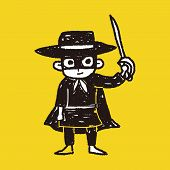 foto of zorro  - Mask Man Doodle - JPG