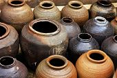 picture of pottery  - There are jars and jars of ancient pottery - JPG