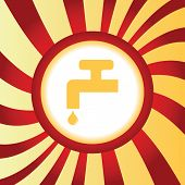 picture of ooze  - Yellow icon with tap and water drop - JPG