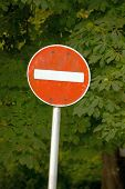 image of traffic rules  - No entry traffic sign - JPG