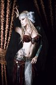 image of belly-dance  - Beautiful traditional female dancer - JPG