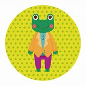 pic of cute frog  - Animal Frog Worker Cartoon Theme Elements - JPG