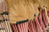 pic of broom  - broom for sale in countryside of thailand - JPG