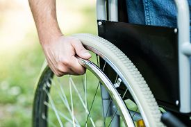 picture of wheelchair  - Close - JPG
