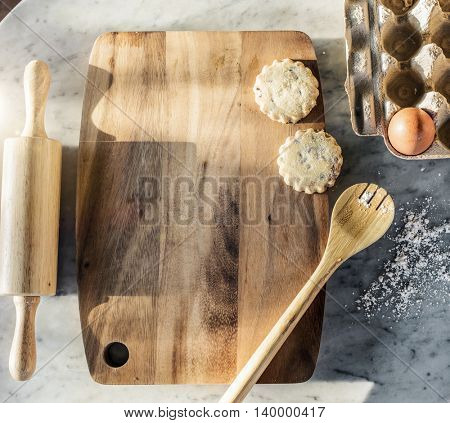 Baking Board Preparation Cookies Concept