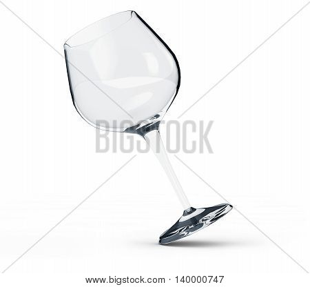 3d render of wine glass  crysta, background, wineglass, 3d