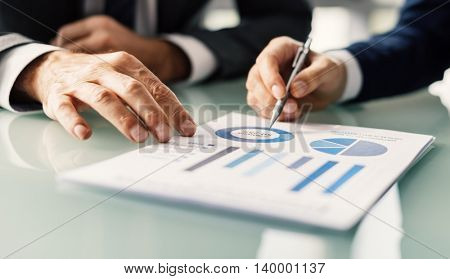 Analysis Brainstorming Business Company Report Concept