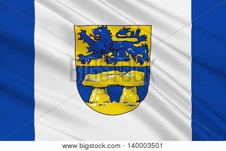 Flag of Heidekreis is a district in Lower Saxony Germany. 3d illustration