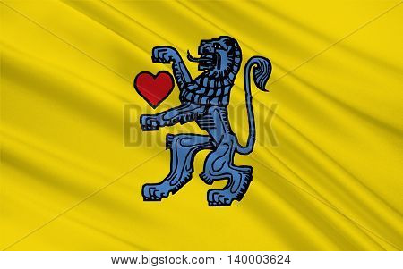Flag of Celle is a district in Lower Saxony Germany. 3d illustration
