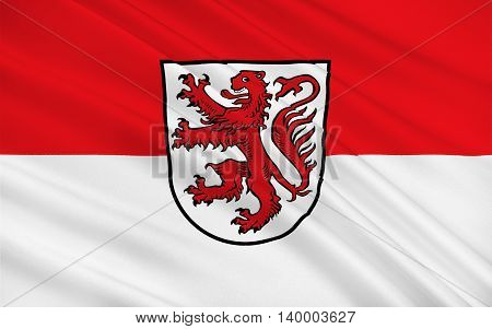 Flag of Braunschweig is a city in the state of Lower Saxony Germany. 3d illustration