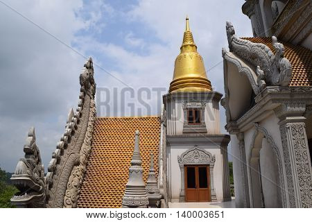 Buu Long temple on the rooftop in Ho Chi Minh city vietnam