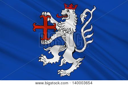 Flag of Hamelin-Pyrmont is a district in Lower Saxony Germany. 3d illustration