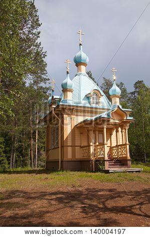 Valaam. Voznesenskaya a chapel on the mountain Eleon