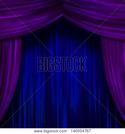 Theater Curtains 3D Render