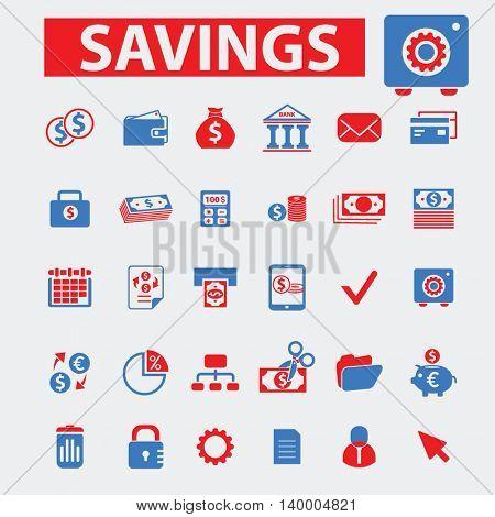 savings icons